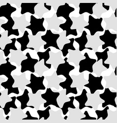 Pattern of black and grey stars vector