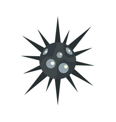 round cell virus icon flat style vector image vector image