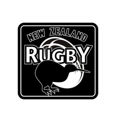 rugby ball kiwi new zealand vector image