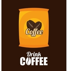 Sack coffee bean graphic vector