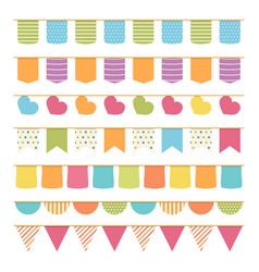 Seamless bunting vector