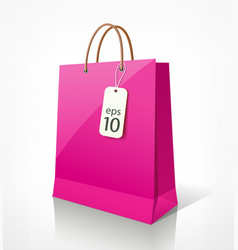 Shopping bag pink vector image vector image