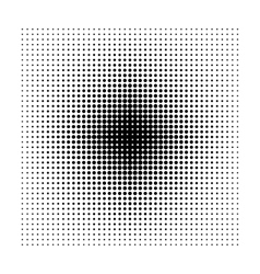 Square halftone geometric shapes dot abstract vector