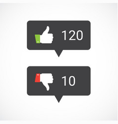thums up and thumbs down icons vector image