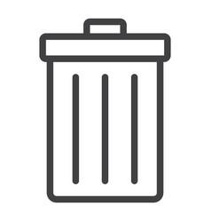 trash bin line icon web and mobile delete sign vector image