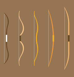 type of bow archery collection vector image