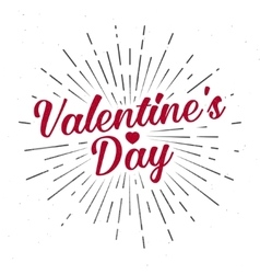 Valentine s Day text and lettering vector image