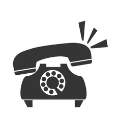 vintage telephone call icon graphic vector image