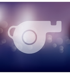 Whistle icon on blurred background vector