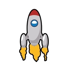 Rocket spaceship science vehicle icon vector