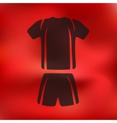 Football clothing icon on blurred background vector