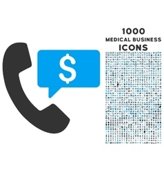Phone order icon with 1000 medical business icons vector