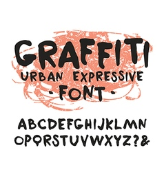 Handwritten brush font graffiti vector