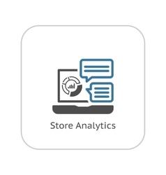 Store analytics icon flat design vector