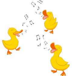 happy duck singing vector image