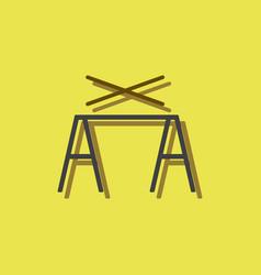 Circus pole balancerequipment in sticker style vector