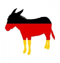 German donkey vector image