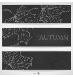 Hand drawn autumn background vector