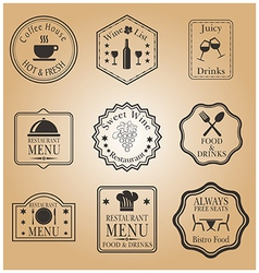 Restaurant menu labels vector