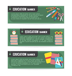 Set of education banner vector