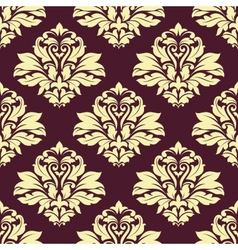 Damask style seamless arabesque pattern vector