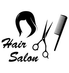 hair care icon with woman head vector image