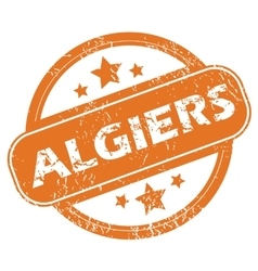 Algiers round stamp vector