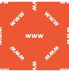 Orange www pattern vector
