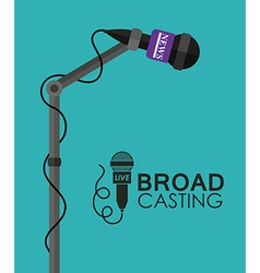 Broadcasting design vector
