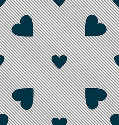 Heart sign icon love symbol seamless pattern with vector