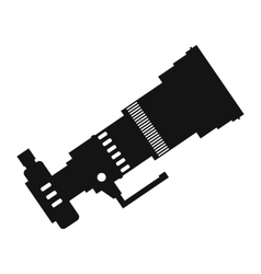 Professional camera simple icon vector image