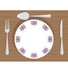 Uk dinner plate vector