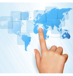 Finger touch world vector