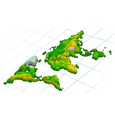 world 3d maps vector image