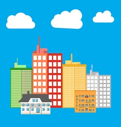 City building icon vector