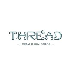 Thread logo vector