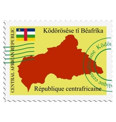 Mail to-from central african republic vector