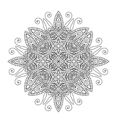 Round element for coloring book mandala vector