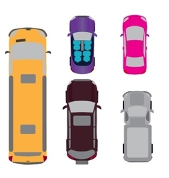 A set of five cars coupe convertible suv vector