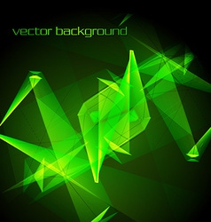 Abstract green glowing background vector
