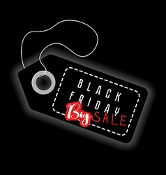 Black Friday big sale Sales discount advertising vector image vector image