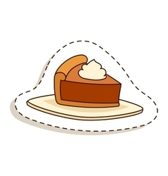Cake isolated vector