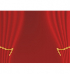curtain backdrop vector image vector image