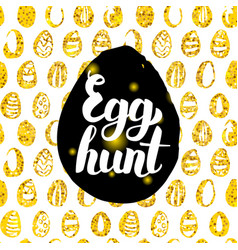 Egg hunt postcard design vector