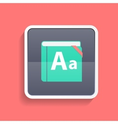 Flat dictionary icon vector