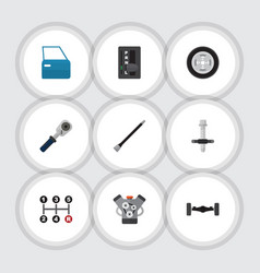 Flat icon auto set of automatic transmission vector