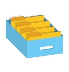 folder data document icon vector image vector image