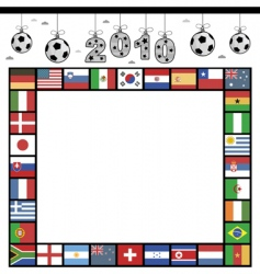 football flag frame vector image vector image
