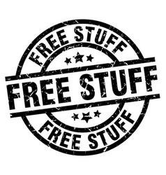 Free stuff round grunge black stamp vector