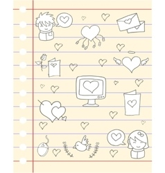 love theme paper design vector image